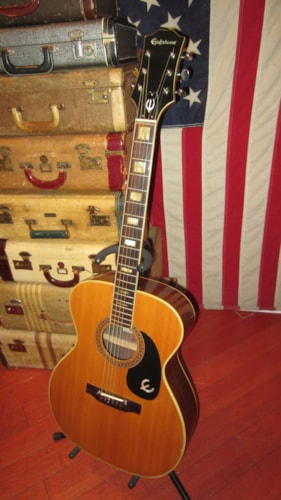 1971 Epiphone FT-135 Small Bodied Acoustic Flattop Natural