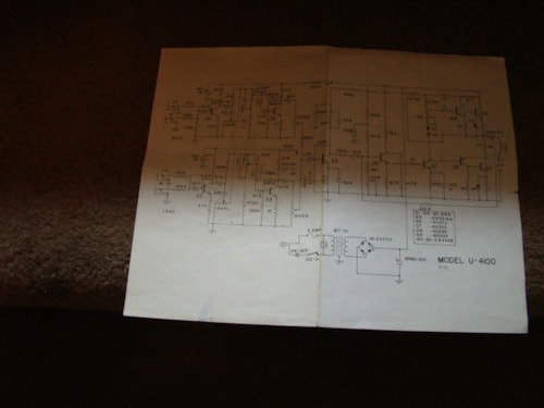 1971 Unicord U-4100 Schematic & Users Guide Excellent