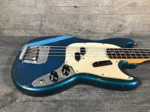 1972 Fender Competition Mustang Bass Lake Placid Blue