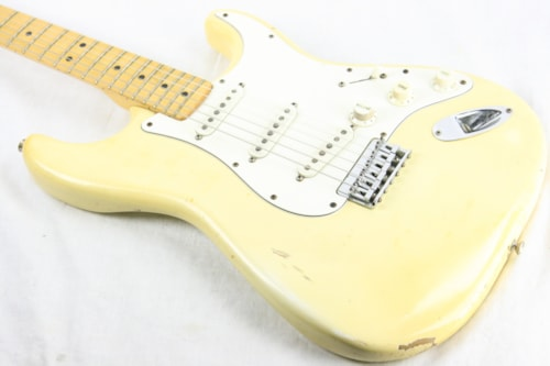 1974 Fender Stratocaster Olympic White! 1970's Strat w/ Staggered Pole Pickups! Maple Neck! Hardtail