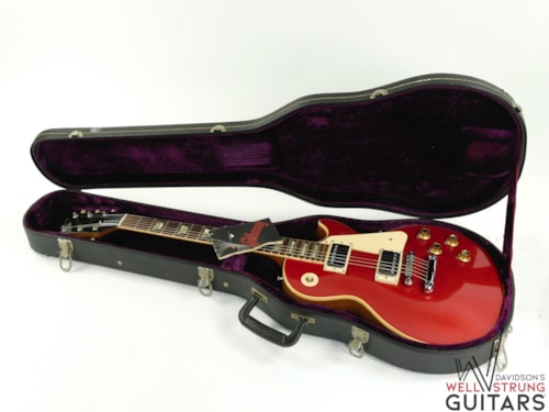 """1974 Gibson Les Paul Deluxe """"Rocket Red"""" Sparkle"""
