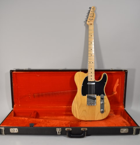 1975 Fender Telecaster Natural Finish Original Vintage Electric Guitar w/OHSC