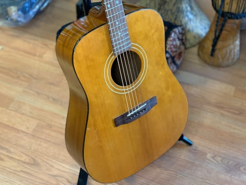 1975 Harptone Dreadnought acoustic natural