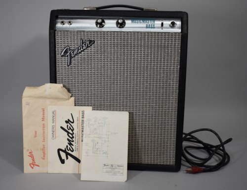 1976 Fender Musicmaster Bass Vintage Silverface 1x12 Tube Combo Amp