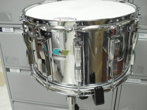 1976 Ludwig 8 X 14 Snare Chrome over Wood, Very Good