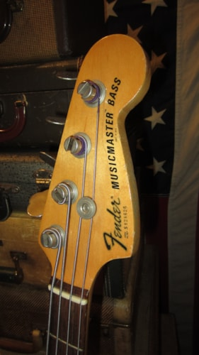 1978 Fender Musicmaster Bass White with Original Soft Case