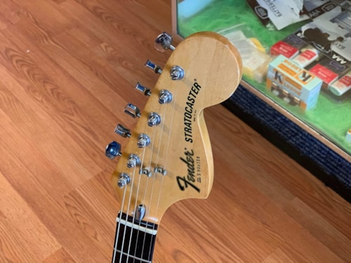 1979 Fender Stratocaster black with rosewood board,