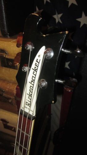 1984 Rickenbacker Model 4003 Bass Jetglo Black, Excellent, Original Hard, $2,495.00