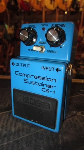 ~1985 BOSS CS-1 Compression Sustainer Compressor Made in Japan Blue
