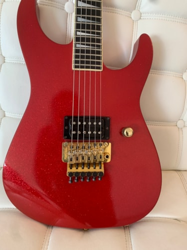 1985 Jackson CS Soloist Special Ordered by Bruce Kulick Sparkle Red