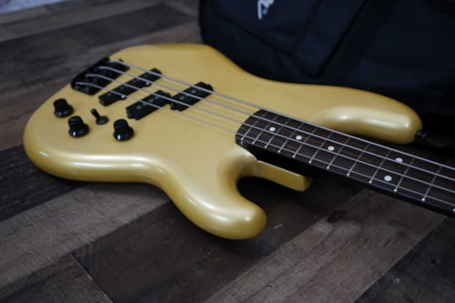 1986 Fender PJ-535 Contemporary Jazz Bass Special MIJ Aged Vintage White Pearl