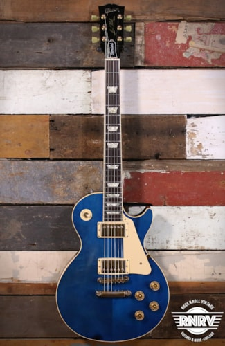 1990 Gibson Les Paul Standard Limited Colours Edition Trans Blue w/ OHSC (Headstock Repair)