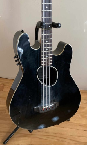 ~1990 Kramer Acoustic/Electric Bass Black