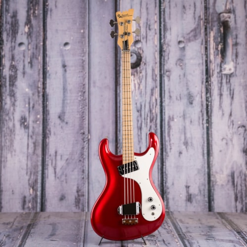 Vintage 1990 USA MADE Mosrite Gospel, Candy Apple Red, Serial #GB001