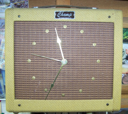 1993 Fender Sam Hutton Champ amplifier clock