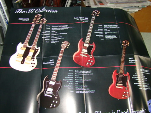 1993 Gibson SG/Angus Young Poster Mint