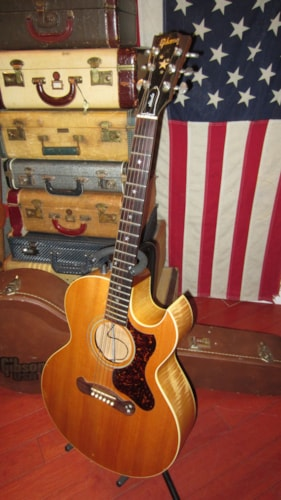 1993 Gibson Starburst Acoustic / Electric Flattop Acoustic Natural