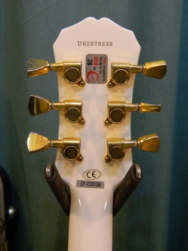 2002 Epiphone Les Paul Custom White