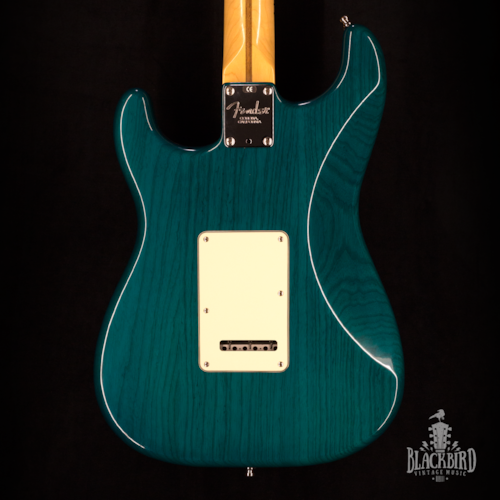 2002 Fender American Deluxe Stratocaster Transparent Teal