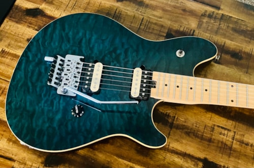 2002 Peavey EVH Wolfgang Special EXP Blue Quilt