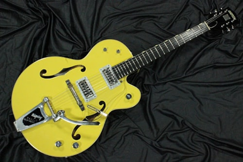 2004 Gretsch G6118T-120 Anniversary Bumbo Yellow & Cooper brown, Near Mint, Original Hard, $1,645.00