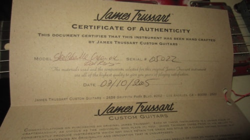 2005 James Trussart Steel Deville Cream with Red Roses