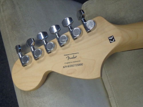 """2005 Squier® By Fender® """"Miller Genuine Draft"""" Limited Edition Black & Beer finish, Brand New"""