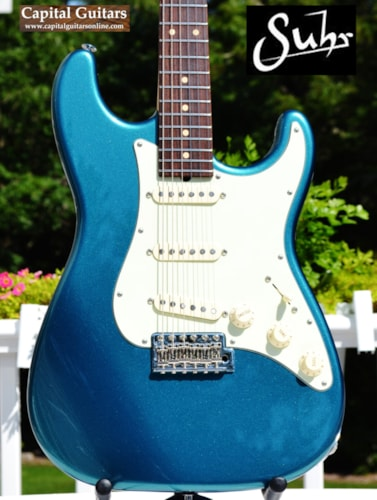 2005 Suhr Classic S - Huge Neck, SS Frets, SSC Ocean Turquoise, Near Mint, Original Hard, $2,199.00