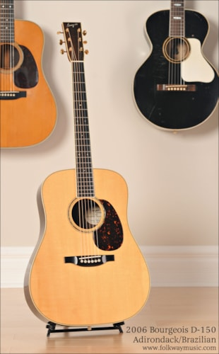 2006 Bourgeois D-150 Adirondak / Brazilian Excellent, Original Hard, $4,920.00