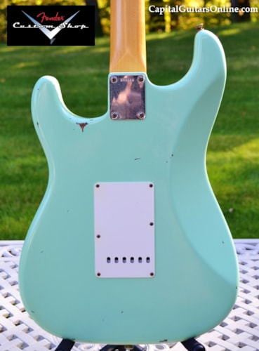 2007 Fender® Custom Shop '60 Stratocaster® Relic® Surf Green, Excellent, Original Hard, $2,499.00