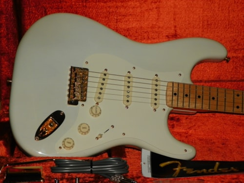 2007 Fender® USA 57 Mary Kaye Anniversary Stratocaster® (1957 Reissue) Transparent White, Excellent, Hard, $1,299.00