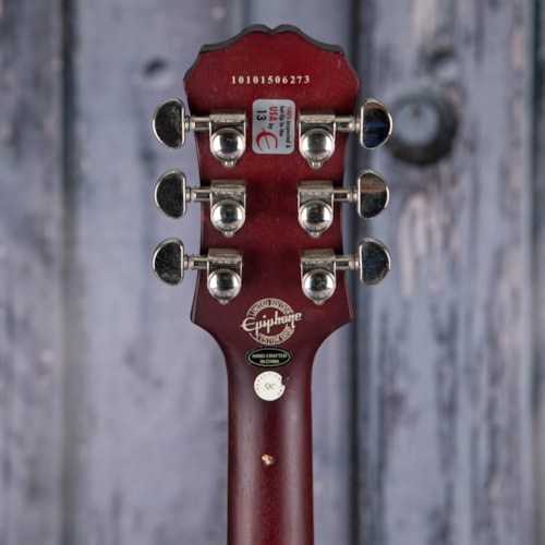Used 2011 Epiphone Limited Edition Custom Shop Les Paul Traditional PRO, Wine Red