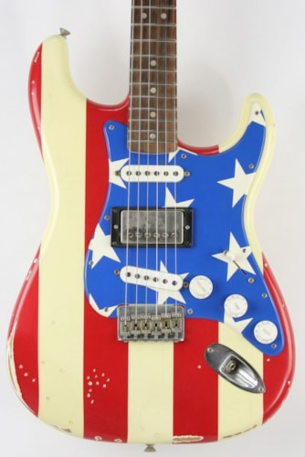 2011 Fender Wayne Kramer Signature Stratocaster Red, White, Blue with Stars and Stripes