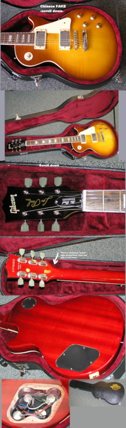 ~2011 Z NOT Gibson - this is FAKE Chinese Les Paul Standard KNOCK-OFF