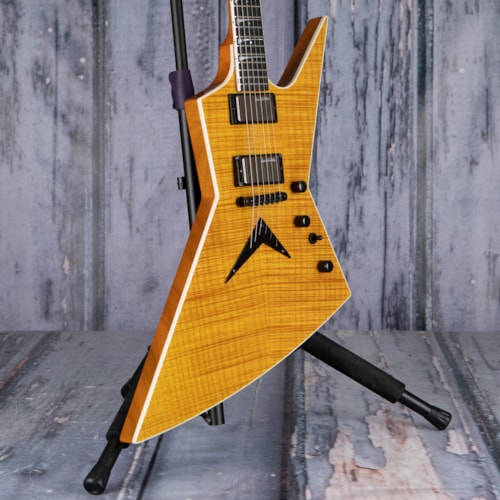 Used 2012 Custom Shop USA Dean Dave Mustaine Signature Zero Flame, Amber