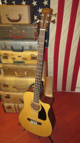 ~2012 Fender CB-100CE Acoustic Electric Bass Natural w/ Gig Bag