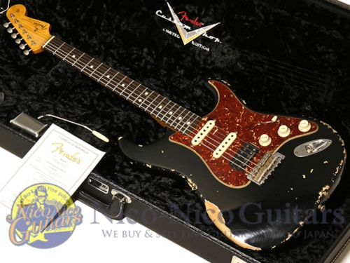 2012 Fender Custom Shop Limited 1963 Stratocaster Heavily Relic Black