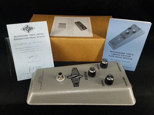 2012 RotoSound Limited Edition 1960's Fuzz Pedal Grey #43/2000