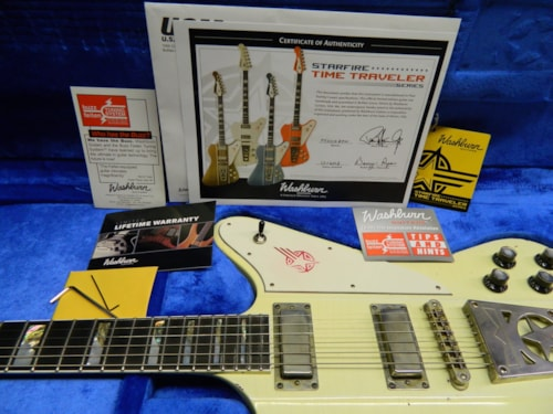 2012 Washburn Starfire Time Traveler Aged White
