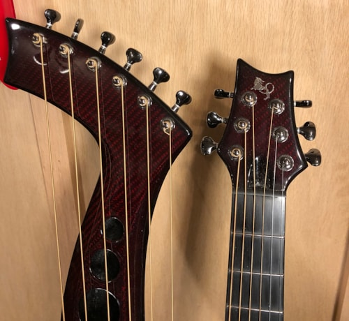~2013 Emerald XH7-Synergy Harp Guitar Red
