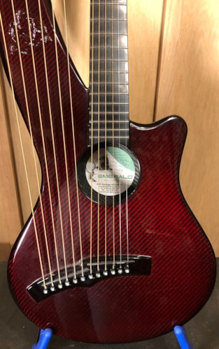~2013 Enerald XH7-Synergy Harp Guitar Red