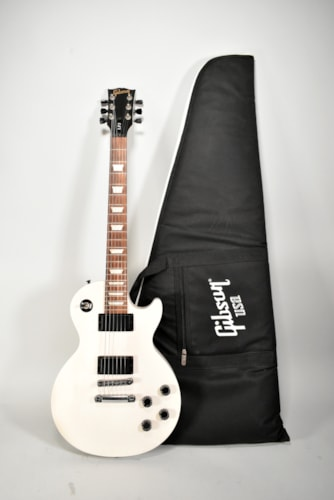 2013 Gibson Les Paul LPJ Rubbed Trans White Finish Electric Guitar w/Gig Bag