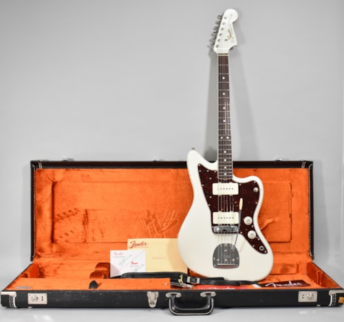2014 Fender American Vintage '65 Jazzmaster Olympic White Finish Electric Guitar w/OHSC