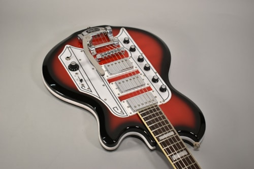 2015 Eastwood Airline Town & Country Red Burst Electric Guitar w/OHSC
