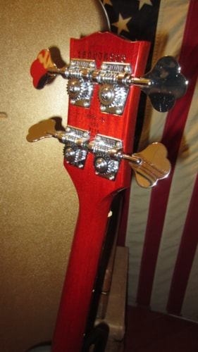 2015 Gibson SG Bass Cherry Red Like New with Original Fancy Gibson Hard Case