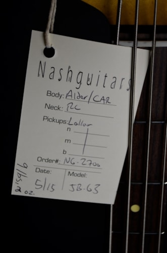 2015 Nash Guitars JB-63 Candy Apple Red, Brand New, Original Hard