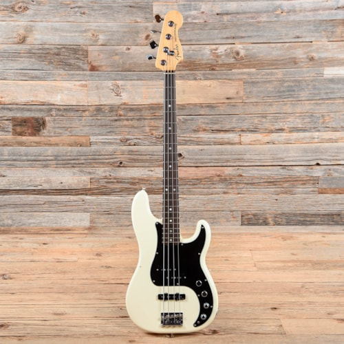 Fender American Elite Precision Bass Olympic White 2016