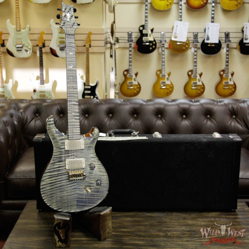 2016 PRS - Paul Reed Smith PRS Private Stock PS6151 Flame Custom 24 Stained Flame Maple Neck and Fretboard Triple Faded Indigo Triple Faded Indigo, Brand New, $9,999.00
