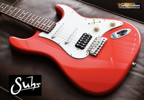 2016 Suhr Classic SSH Fiesta Red Torrefied Maple Neck, 50's Round Neck Carve