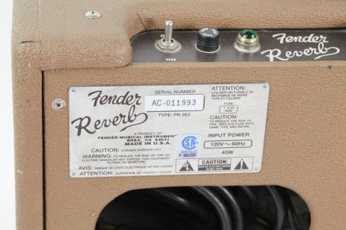 Fender Brownface Reverb '63 Reissue Unit